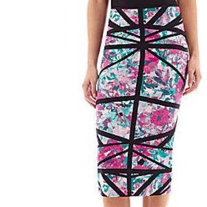 🌺 watercolor pencil skirt 🌺